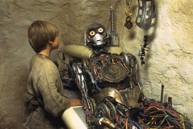 Anakin Building C-3PO